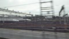 Huge numbers of shinkansens aligned (seikinsou) Tags: japan autumn osaka jr railway train shinkansen hikari kyoto shinosaka video align monorail