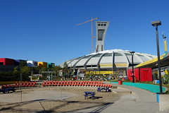 Olympic Stadium @ Montral (*_*) Tags: montreal mtl canada quebec northamerica 2016 autumn fall automne october city sunny hochelaga maisonneuve afternoon olympic stadium stade olympique rogertaillibert architecture