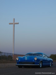 Sunday Service (Swanee 3) Tags: blue manhattan 1954 kaiser custom kustom dragn