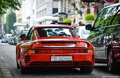 Porsche 959 (JayRao) Tags: red paris france nikon may porsche guards supercar jayr 959 avenuemontaigne 2013 d3100