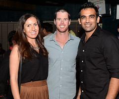 Daniel Christian and Zaheer Khan