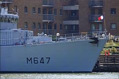 M647 FS L'Aigle French Navy Minehunter (PaulHP) Tags: india france west london french dock marine navy class quay docklands fs minesweeper laigle nationale aigle eridan minehunter m647