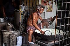 Street restaurant in Kolkata, India. (cookiesound) Tags: life street trip travel people india inspiration man travelling work canon bear