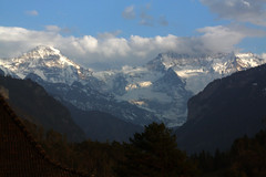The Monch and the Jungfrau from our balcony (Gill'sphotos) Tags: mountains switzerland jungfrau monch