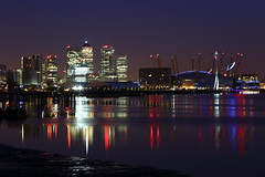 Docklands at dawn (mussy5) Tags: longexposure london thames night docks river boats dawn lights iii o2 dome docklands canon5d nightlife canarywharf mk canonef24105mmf4lisusm ©smusgrove2013