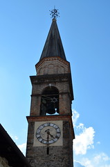 Saints Fosca & Maura's Bell Tower [Frisanco - 13 April 2013] (Doc. Ing.) Tags: 2013 frisanco maniago pordenone pn friuli friuliveneziagiulia fvg nordest italy valcolvera clocktower belltower