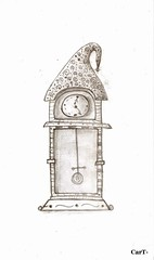 Clock Cart. (Cart Street Art.) Tags: streetart black art pencil design sketch crazy arte drawing withe surrealism venezuela magic creative lapiz surreal fantasy cart dibujos dibujo mage maracaibo mythical boceto surrealismo blackandwithe sketchart