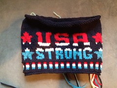 USA Strong Hat (lmcfetridge) Tags: usa ski hat knit idlehandsknits lisamcfetridge