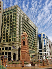 Clock Tower - Madinah (uvaisjm - Al Seylani Photography) Tags: square places clocktower pilgrims holycity madinah munawwara saudiarabia