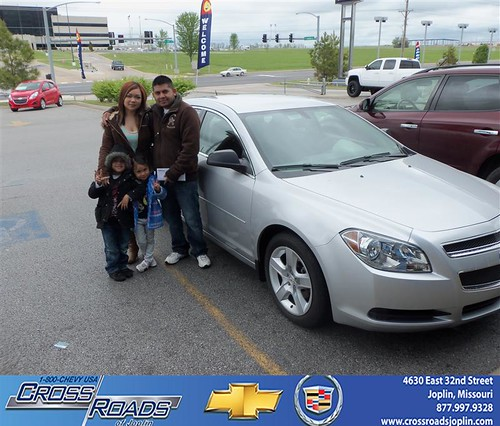 Crossroads Chevrolet Cadillac would like to say Congratulations to Kia Vang on the 2011 Chevrolet Malibu