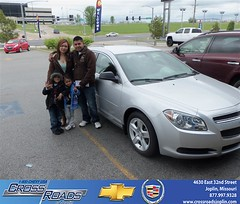 Crossroads Chevrolet Cadillac would like to say Congratulations to Kia Vang on the 2011 Chevrolet Malibu (Crossroads Chevrolet Cadillac) Tags: new chevrolet car sedan truck wagon happy pickup cadillac mo used vehicles chevy missouri bday van minivan suv crossroads luxury coupe dealership caddy joplin shoutouts hatchback dealer customers 4dr 2dr preowned