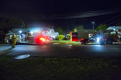 out the front of the almost burning house (bottle top) Tags: street house home me creek truck out fire call or front brisbane just burning albany almost even suburbs trucks normal quite he firefighter calling caught base firefighters leaking medics incase