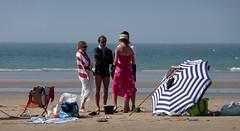 Cte d'Opale, estivants (Ytierny) Tags: people france horizontal sable parasol plage tourisme merdunord panoramique pasdecalais marebasse littoral loisir et ctedopale dtente vacancier estivant ytierny