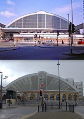 Lime Street Station, 1969 and 2014 (Keithjones84) Tags: history liverpool limestreet thenandnow merseyside oldliverpool