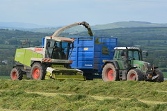 Claas Jaguar 890 SPFH filling a Smyth FieldMaster Trailer drawn by a Fendt 820 Vario TMS Tractor (Shane Casey CK25) Tags: claas jaguar 890 spfh smyth fieldmaster trailer drawn fendt 820 vario tms tractor castlelyons agco green self propelled forage harvester silage silage16 silage2016 grass grass16 grass2016 winter feed fodder county cork ireland irish farm farmer farming agri agriculture contractor field ground soil earth cows cattle work working horse power horsepower hp pull pulling cut cutting crop lifting machine machinery nikon d7100 tracteur traktor traktori trekker trator cignik collect collecting