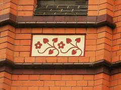 Ornament (eckbert.sachse) Tags: germany willybrandtplatz flensburg flensborg schleswigholstein 2016 brick backstein backsteinexpressionismus gründerzeit clinker klinker fassade fascade wilhelminisch wilhelminian victorian victorianisch