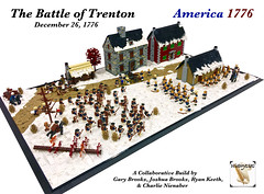 The Battle of Trenton, December 26, 1776 (Gary^The^Procrastinator) Tags: brickfair virginia america 1776 lego diorama historylug afol wamalug revolutionarywar americanwarofindependence battleoftrenton trenton battle fight winter hessian hessians continentals continentalarmy army soldier cannon artillery war surprise snow ice town musket us president jamesmonroe georgewashington washington history historical newjersey