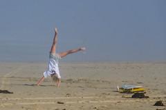 Cartwheel (Kevin MG) Tags: huntingtonbeach losangeles ventura ca usa beach ocean sand surf water sea girl cute pretty young youth little gymnastic cartwheel