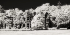 Poltalloch House (Shot Yield Photography) Tags: scotland uk greatbritain british scottish poltalloch mansion house manor poltallochhouse lostplace ruins exploration derelict dereliction decay abandoned premises building architecture historic creepy scary spooky eerie lost place haunted dark mystic mysterious atmosphere dream like dreamlike picture shot yield foto photo image black white monochrome bwir infra red infrared photography shotyieldphotography