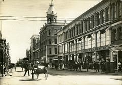 Rundle Street (City of Adelaide) Tags: adelaide cityofadelaide heritage rundlestreet rundlemall townacre44 chasbirksco birksdepartmentstore jamesmarshallco marshallsdepartmentstore departmentstores storefronts horses horsecabs pedestrians shoppers