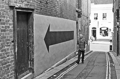 Following Directions (sasastro) Tags: streetphotography streettogs candid arrow colchester pentaxk5iis