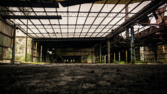 Urbex - DSC04542 (cleansurf2 Urbex) Tags: urbex urban decay industrial industry a6000 ilce sony screensaver widescreen wallpaper 16x9 texture leadinglines architecture building rustic ruin emount worn abandoned steel factory heavy vanishingpoint