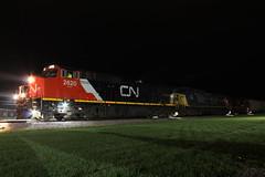 CN 2620 Take 2 (CC 8039) Tags: cn ic ccp csx trains c449w ac44cw time exposure night lena illinois
