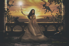 Kingdom (olgavareli) Tags: queen kingdom dragons fairy tale mythical doll phicen action figure photo manipulation royalty surrealart