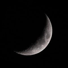 crescent (Marc McDermott) Tags: waxing crescent moon crater night ef400mm f56l usm 2x iii 7dmarkii