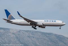 LGAV I 24.08.2016 I Boeing 767-322ER I N675UA (onemoregeorge.frames) Tags: 2016 767 ath august b763 boeing d40x greece lgav n675ua nikon unitedairlines heavies omg onemoregeorge widebody