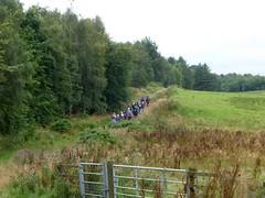 Ramblers at Tamfourhill Wood, Falkirk (luckypenguin) Tags: scotland falkirk ramblers walk walking tamfourhill wood bonnybridge camelon