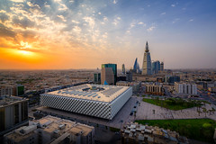 King Fahad National Library at sunset (Faisal Bin Zarah) Tags: riyadh sunset saudi arabia king fahad national library