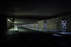 Underground future - Paris - FRANCE (william 73) Tags: 17mm zuiko olympus ruewatt paris france omd em10 mk2 tunnel souterrain graphique gomtrique