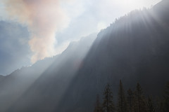 Yosemite Valley, California (kmalone98) Tags: yosemitefireoctober112015 westernfires sunrays fires smoke yosemitevalley yosemiteconncect
