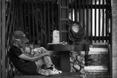 The Shape of Sleep (2) (FimRay) Tags: thai thailand asian seasia blackandwhite bw monotone monochrome people person persons sleep asleep sleeping daytime nap candid street traditionalstreet body shape shapes