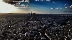 Sunset from tour montparnasse Paris (giorgioc2) Tags: parigi paris sunset skyline montparnasse tourmontparnasse toureiffel clouds skyscraper colorful