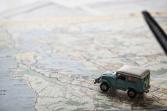 Going to San Francisco (le cabri) Tags: jeepstyle toyota replica old genuine map road roadtrip caifornia sanfrancisco goingto toy iconic transportation landvehicule outdoors retro retrostyle driving tomica landcruiser expedition bleach nostalgic sixties hippie hippy macro