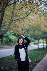 Nikki (TIA ZHANG) Tags: girls fall portrait highpark park maple windy
