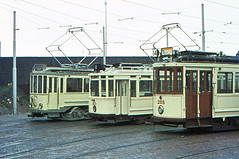 Once upon a time - The Netherlands - Den Haag Scheveningen (railasia) Tags: holland zuidholland thehague scheveningen htm motorcar heritage lineup infra depot seventies