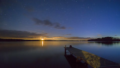 Moon light (Kari Siren) Tags: moon lake star pier karijarvi jaala finland laowa 15mm