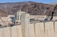 Road Over Hoover Dam (dr_marvel) Tags: dam hoover hooverdam nevada arizona artdeco water electricity hydroelectric power concrete cement intake waterintake mead lakemead