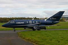 Falcon 20 G-FRAO Cobham (Ayrshire Aviation Images) Tags: falcon20 cobham bizjet prestwickairport aviation aircraft airplane jointwarrier
