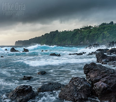 Laupahoehoe Point (mikeSF_) Tags: hawa hawaii big island bigisland hilo laupahoehoe beach scenic point lava rock sunrise cliff shore surf waves surfing crash blue ocean pacific pacificocean mikeoriaphotography wwwmikeoriacom pentax k3ii fa31 limited aa boulders storm rain outdoor