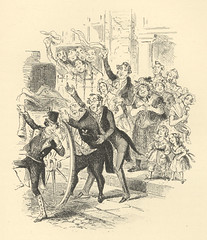 Departure of the Young Couple (Rescued by Rover) Tags: phiz illustration dickens sketches boz victorian london scenes young gentleman lady couple departure