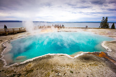 Black Pool at West Thumb Geyser Basin at Yellowstone National Park (TanmayThakur) Tags: yellowstone national park black pool west thumb geyser basin hike trail long weekend naturexml