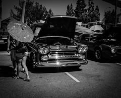 car couple #2 (dustin.gebhard) Tags: deadbeatgallery fujifilm fujifilmxphotography fujifilmxstreetphotography xpro1 streetphotography blackwhite blackandwhite monochrome classic car hot rod raw