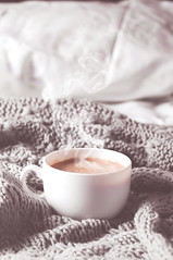 Having a cup of coffee in bed (lyule4ik) Tags: bed coffee cup cocoa view aroma drink concept life break breakfast bean relaxed decor morning top black tea mug espresso lifestyle coverlet room texture design above home hair house throw blanket vintage beautiful bedroom food aromatherapy hot