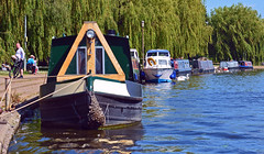Moored on Embankment (Travis Pictures) Tags: peterborough rivernene river waterway city citycentre cityscape citycontest eastanglia england uk britain seacadets nikon d5200 photoshop water leisure customhouse