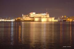 Forti Sant Anlu (Joseph Lanzon) Tags: fort anglu isla senglea malta sea night luminance gimp