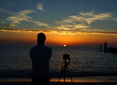 Photographer thoughts - penses de photographe (patrick.tafani) Tags: sunset sea sky clouds calm photographe photographer sun soleil capbreton